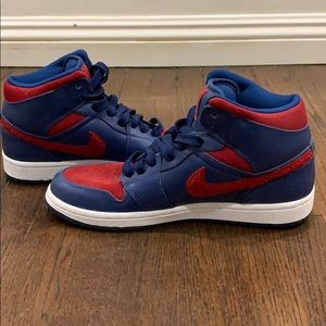 Nike Air Force Blue & Red High tops!